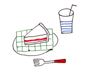 エマルジョン4色ボールペンで描いたイラスト
