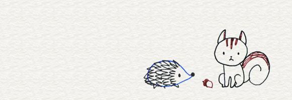 3 6 動物はかんたんな形から 4色ボールペンでかわいいイラスト